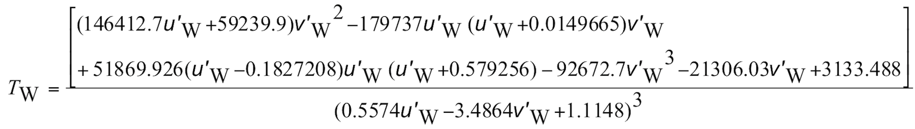 CCT (Tw) Equation 1, enlarged
